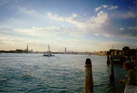 looking toward central Venice